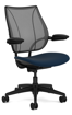 Ergolab Liberty Adj arms black fram blue seat