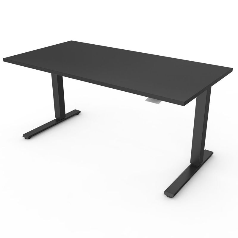 Ergolab Humanscale Float sit stand desk Black